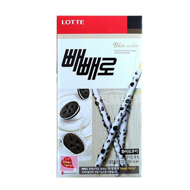 [Lynx supermarket] south korea imported biscuits lotte white with black and white chocolate bar 32g/snack box