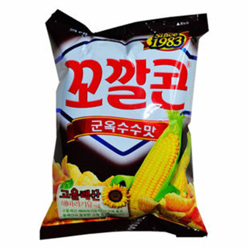 [Lynx supermarket] south korea imported food lotte zero roasted corn flavor crisp crisp corner 77g not fried Food %