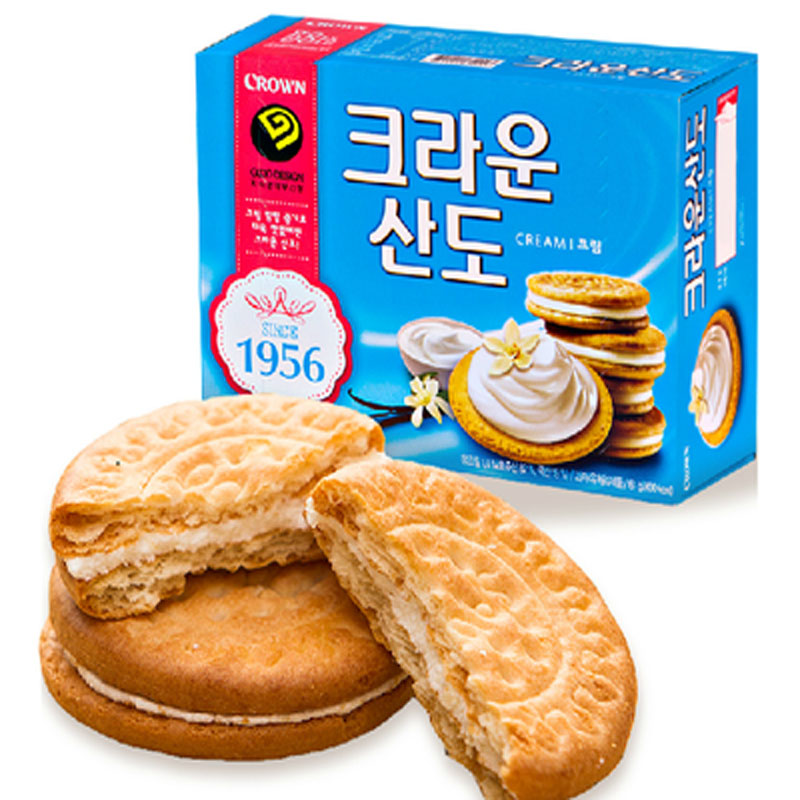 [Lynx supermarket] south korea imported snacks can ryan mountains creamy butter sandwich crackers 161g