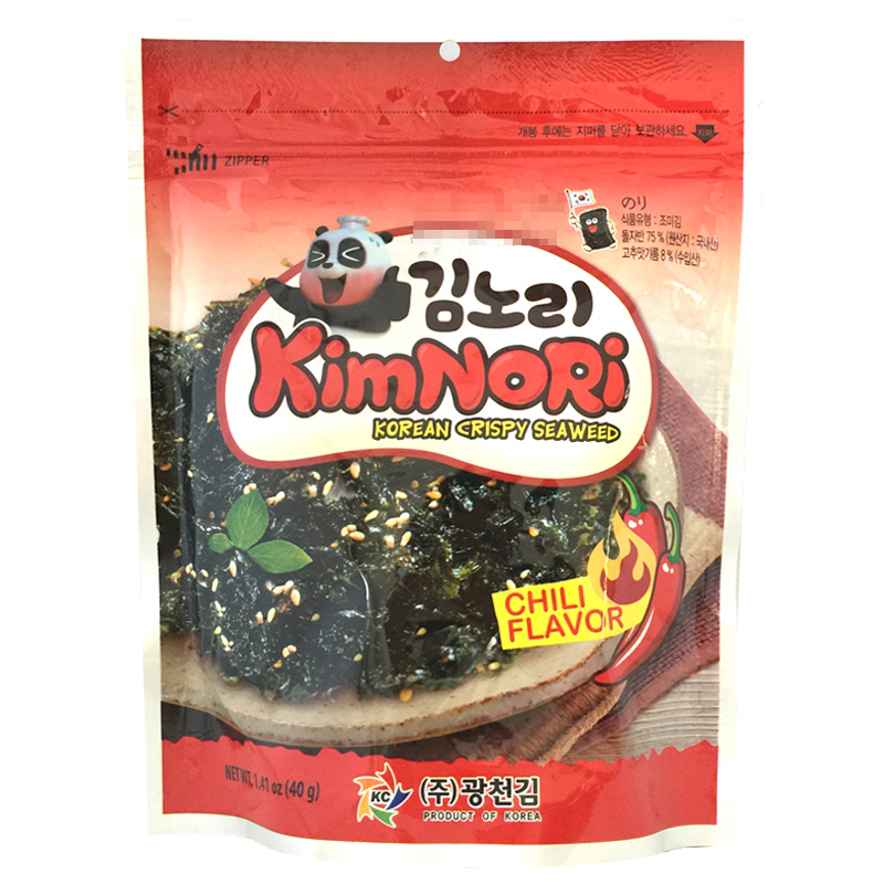 [Lynx supermarket] south korean imports of nori seaweed korea hyun fried nori seaweed spicy 40g/bag of imported sea Products