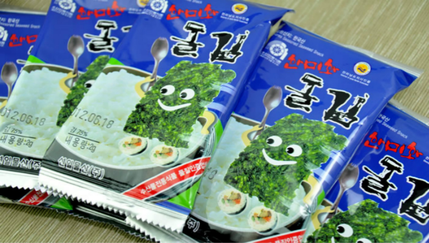 [Lynx supermarket] south korean imports of the rok-us wo nori seaweed olive oil nori seaweed blue 2g * 10