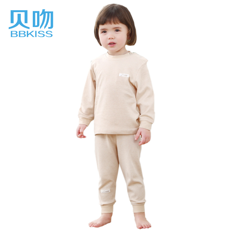[Lynx supermarket] tony kiss natural colored cotton hedging baby underwear baby suits baby clothing B6054