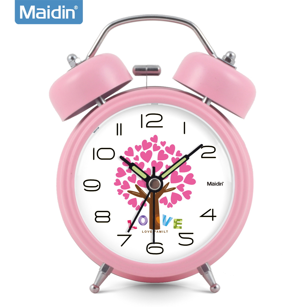 Madine clock wise zhong xuesheng 3 group alarm clock electronic clock bedside clock creative fashion luminous mute 840