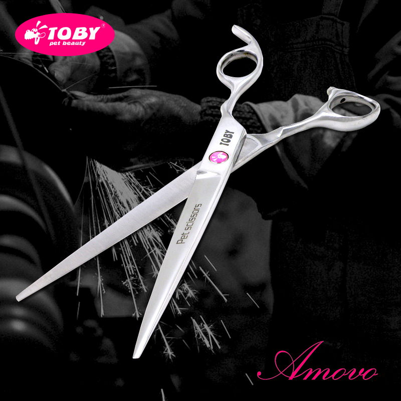Magic kiss toby professional pet grooming scissors direct shear/bending and shearing scissors/teeth cut 7 inch 7.5 inch 8 inch free shipping scissoring is Cut