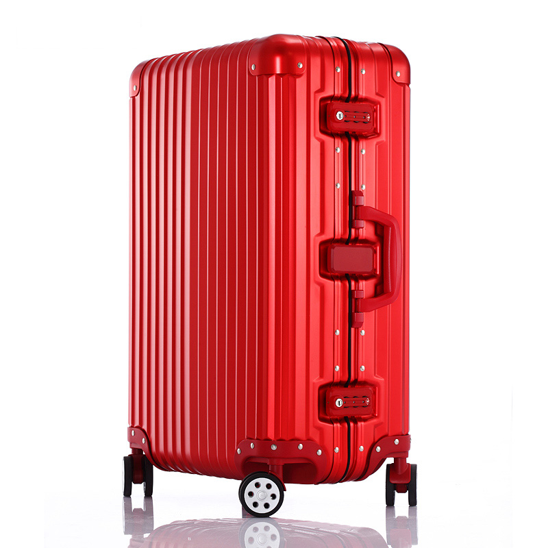 Magnesium alloy frame trolley suitcase aluminum frame suitcase luxury business universal aircraft wheel suitcase luggage