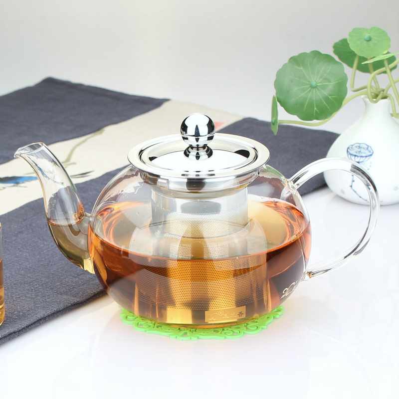 Magnolia resistant glass teapot thick high temperature resistant glass teapot teapot teapot with strainer p-008