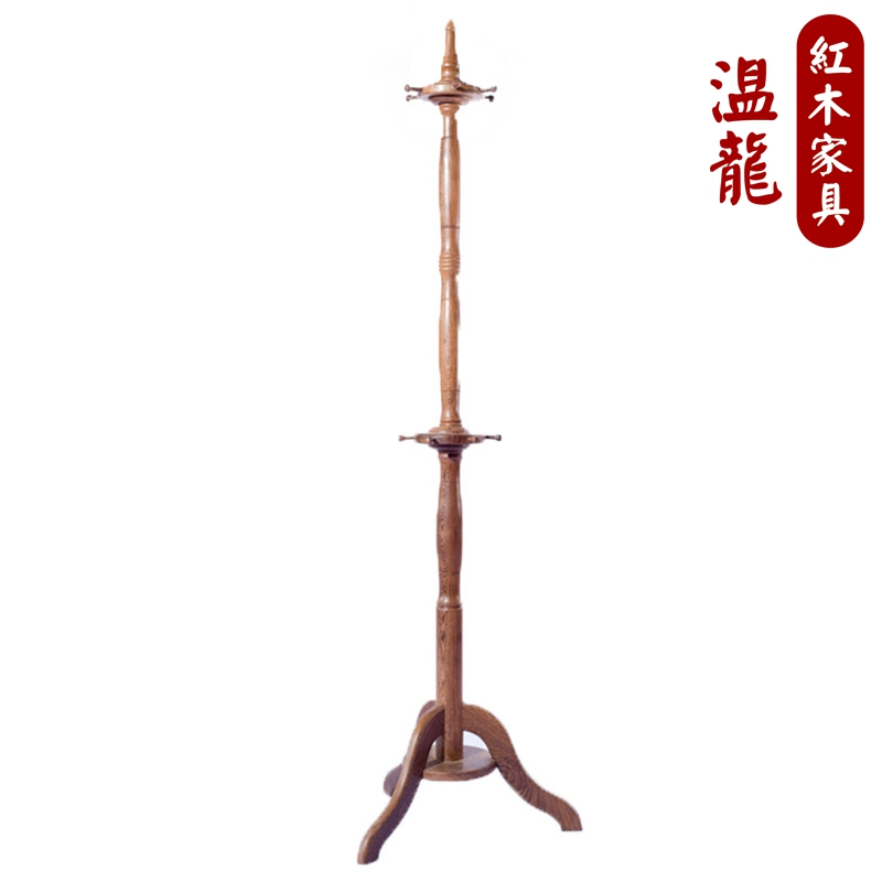 Mahogany furniture wenge classical chinese bedroom wood coat hanger coat rack column raw wood coat rack hanger floor racks