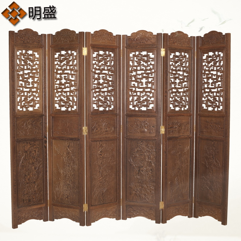Mahogany furniture wenge wood off the living room folding screen porch off chinese antique carved hollow wood folding screen