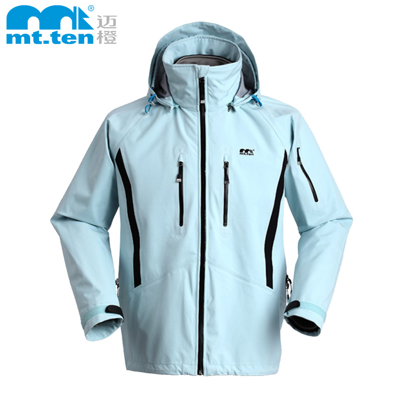 Mai orange outdoor sports jackets men lotus 3 in 1 waterproof jacket windproof breathable wear and climbing through adventure