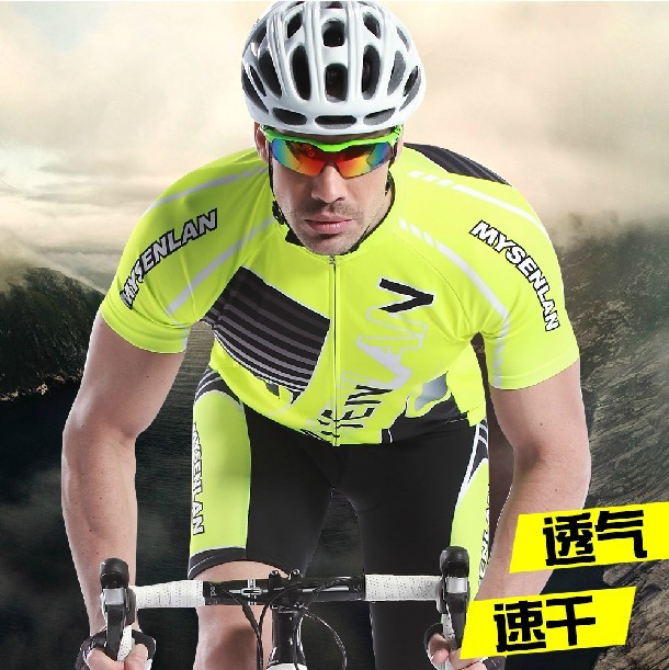 Mai senlan classic moments opportunity jersey short sleeve suit male bicycle clothing 2014 new spring and summer