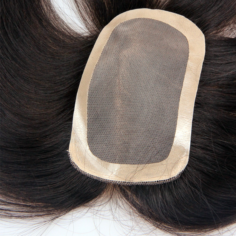 Maibo slices of whole wig hair female head of real hair replacement block replacement piece seamless invisible hand woven straight hair piece