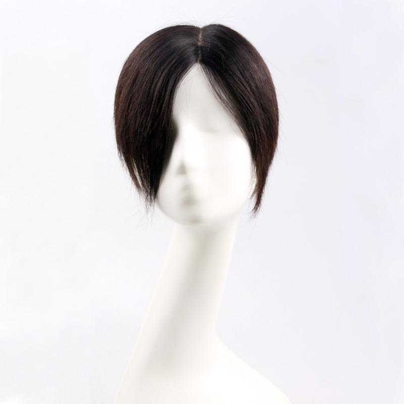 Maibo woven hair replacement wigs real hair replacement piece wig female head cover gray hair wig wig piece straight hair piece hair replacement piece