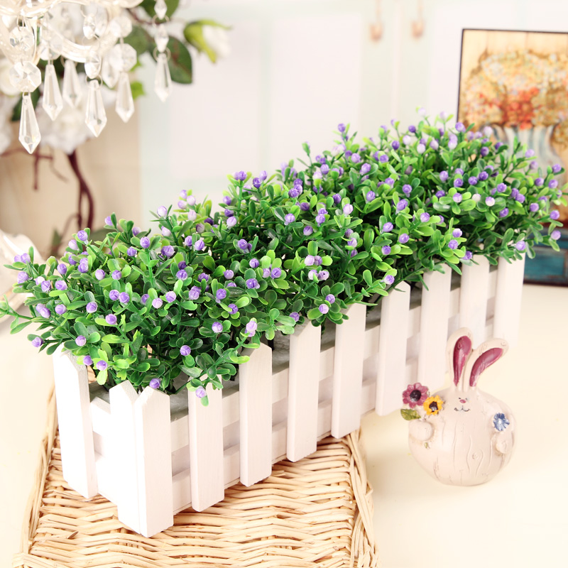 Makeup fans potted artificial flowers artificial flowers floral ornaments living room furnishings artificial flowers suit fence ornaments tanabata plastic flowers silk flower
