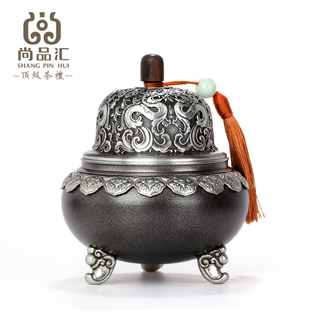 Malaysia still collection unleaded pure tin tea caddy trumpet tea caddy tin cans sealed storage boxes of tea caddy tin metal