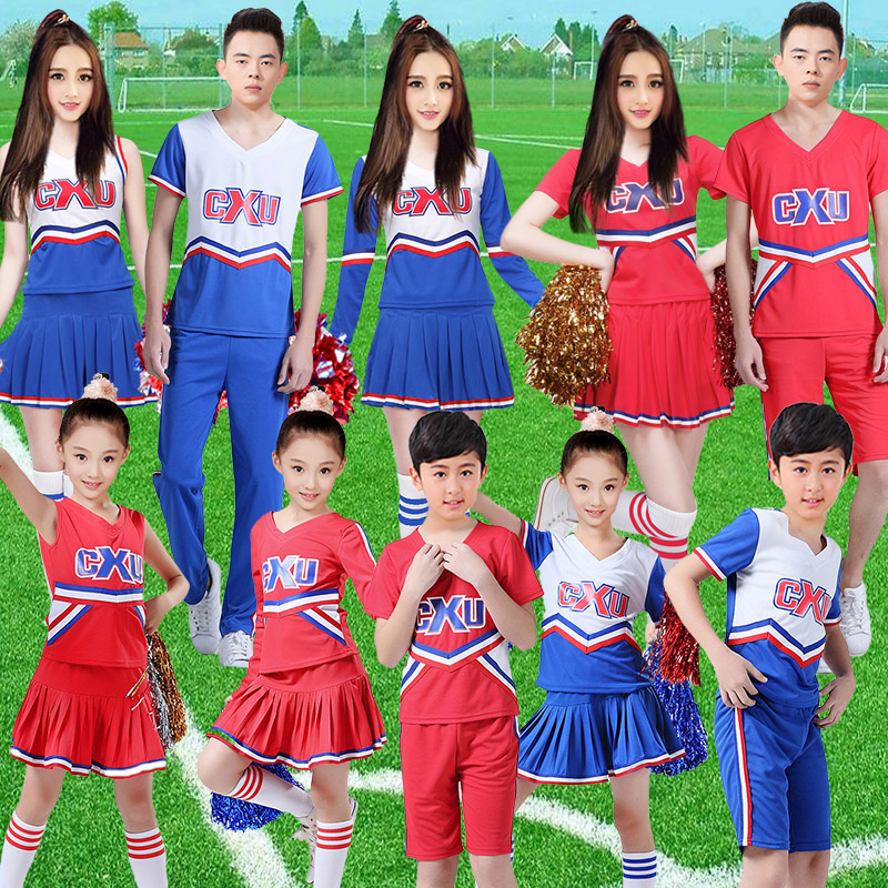 Male and female models for children cheerleaders cheerleading costume costumes adult stage performance clothing aerobics workout clothes dance clothes