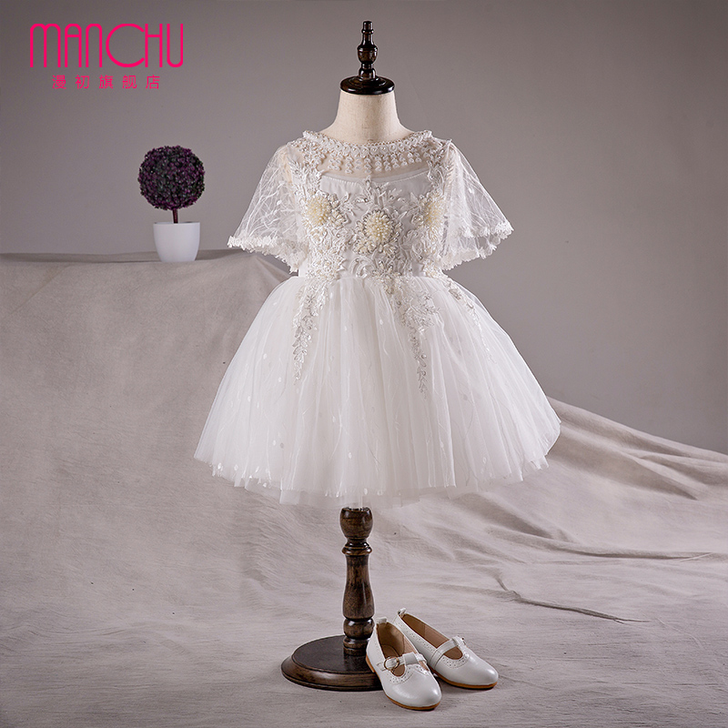 Man at the beginning of white girls princess skirt korean children dress flower girl dresses flower girl dresses wedding dress tutu costumes