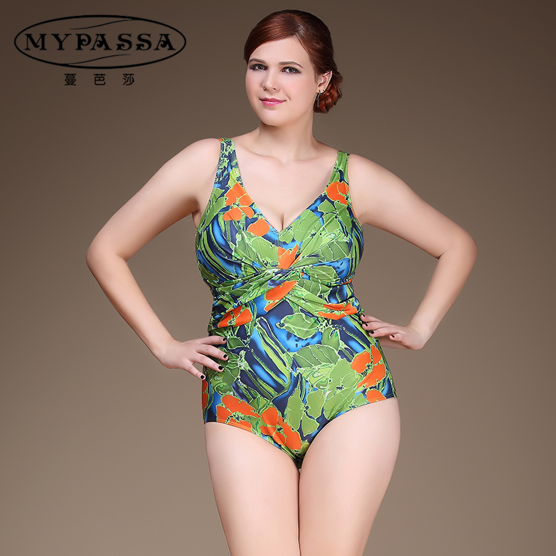 a53ddb1f87 Man bazaar triangle piece swimsuit big yards fat woman floral conservative mom  swimsuit ladies spa cover