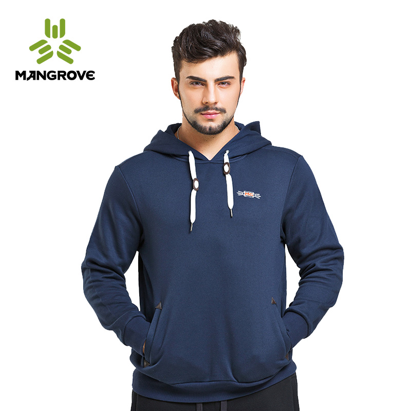 Mange fu mangrove outdoor men's fashion casual hooded sweater long sleeve warm clothes dongkuan 1350