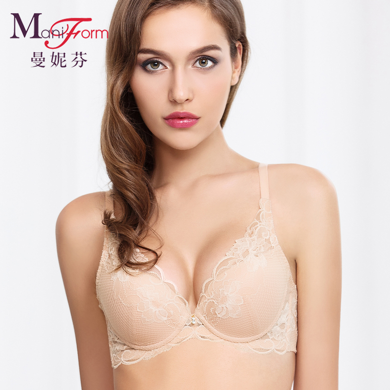 a0c3e01324c87 Get Quotations · Maniform sexy lace bra pads can be inserted cotton  breathable and comfortable sense of tito gather