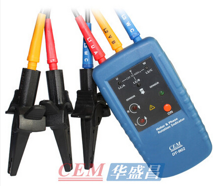 Many provinces shipping cem everbest motor and rotation indicator phase sequence phase sequence phase sequence meter tester DT-902