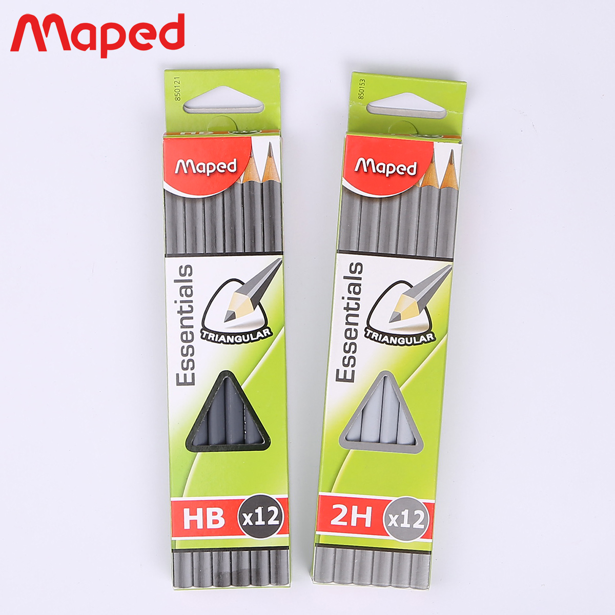 Maped maped student writing wooden pencil student test writing triangle pen pencil 2 h/hb/2b