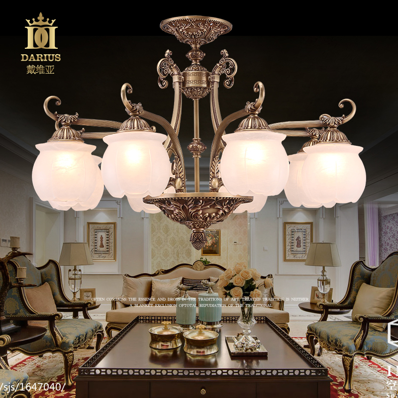 Marble lamps marble lamps copper lamps living room dining room chandelier european american chandelier retro art chandelier