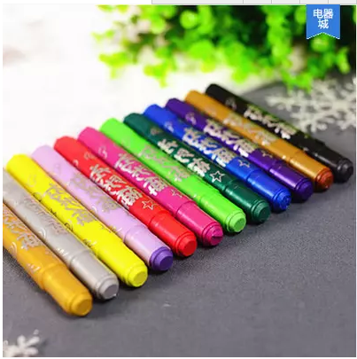 Marco/mark 12 color children's stationery student drawing office diy graffiti colorful bangbang bang