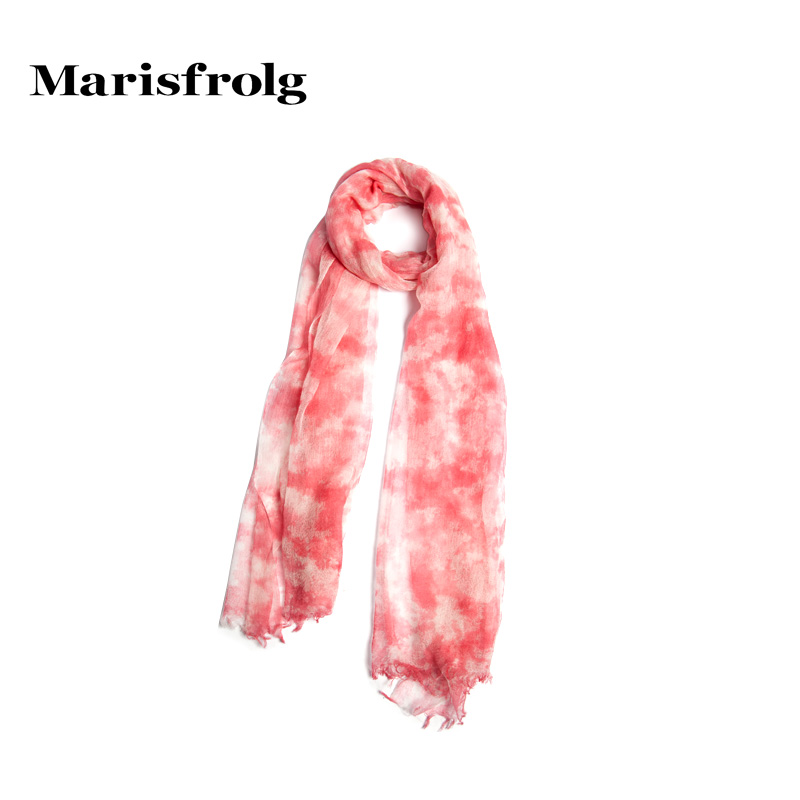 Marisfrolg masifeier blooming soft hit color cashmere scarf counter genuine new women's spring