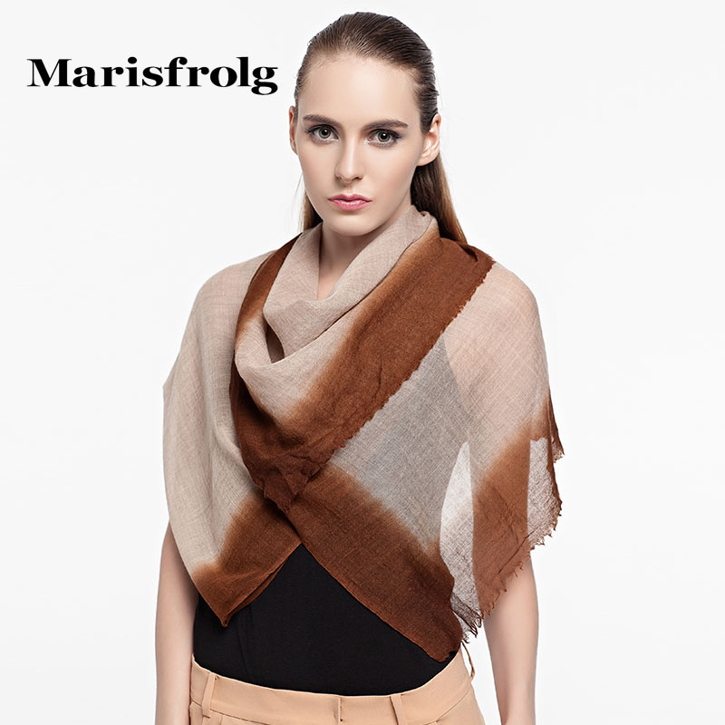 Marisfrolg masifeier counter genuine autumn new retro wild silky blended scarves accessorise