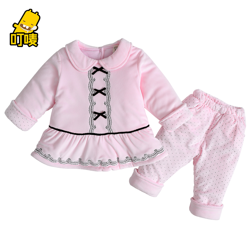 Get Quotations · Mark bite baby clothes new winter female thick cotton baby  suit out clothes for boys and e9f568d8d5cd