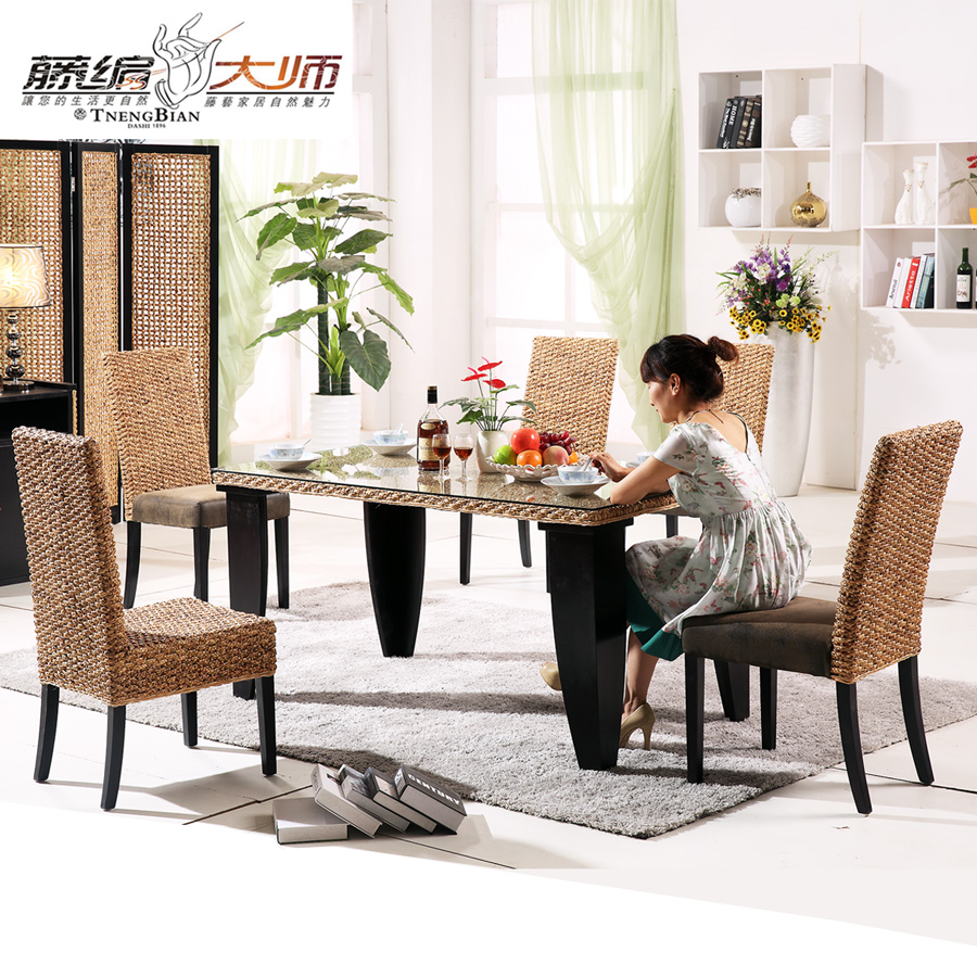 Master ㊣ rattan cane rattan furniture rattan wicker chair rattan wicker chair leisure chair dining chair hotel dining table dining table dining tables and chairs combination