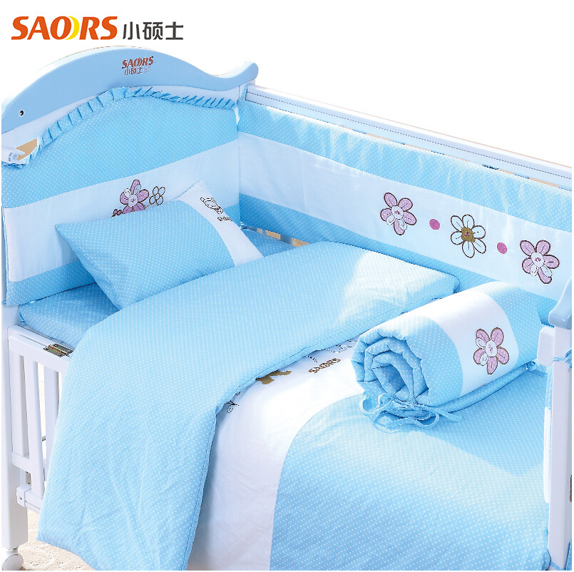 Master small baby crib bedding eight sets cotton baby crib bedding package bedding specials