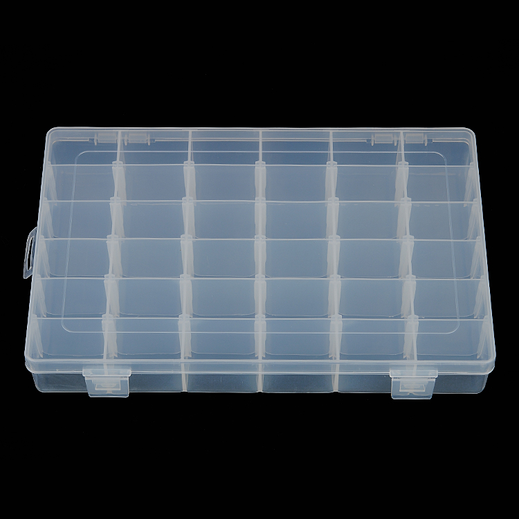 Material diy beaded jewelry box cosmetic storage box kit storage grid parts box 10 grid of transparent plastic box