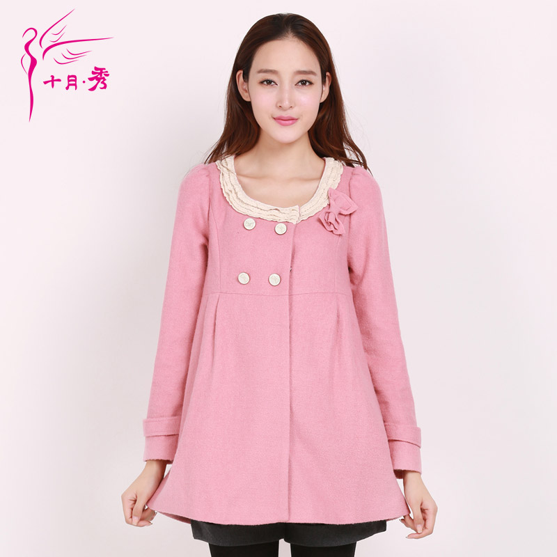 Maternity pregnant women new winter coat korean version of the show in October pregnant women autumn and winter coat jacket pregnant women woolen jacket