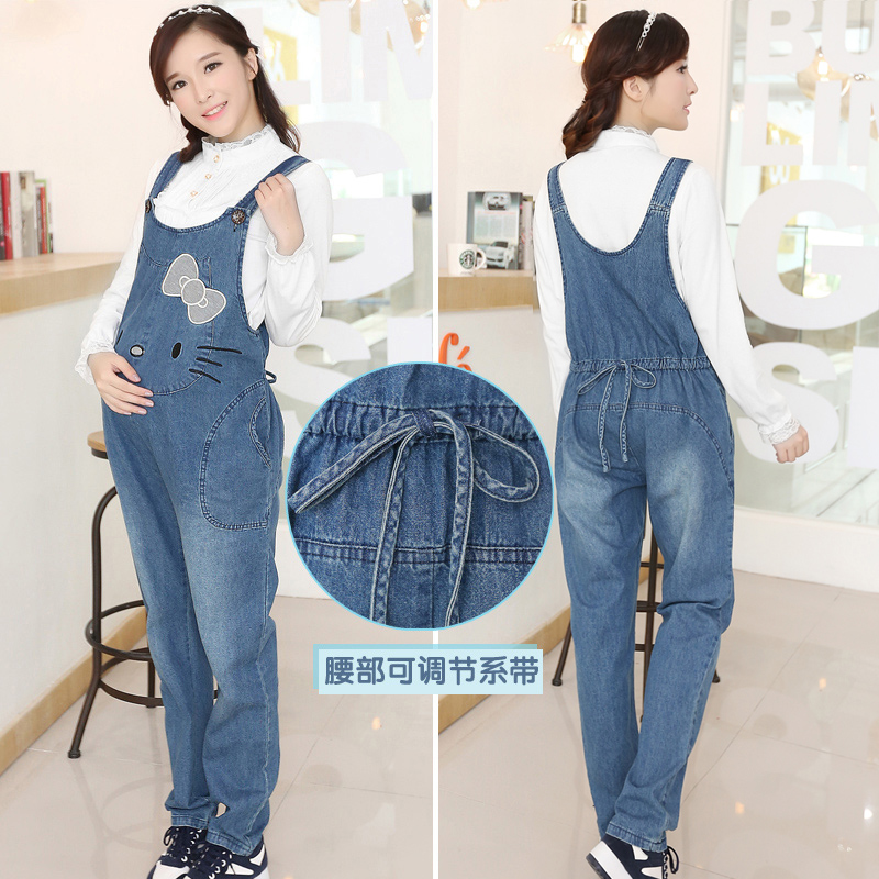 ca9ab4f53a264 Get Quotations · Maternity spring and autumn cotton maternity pants  maternity jeans pants care of pregnant women pregnant women