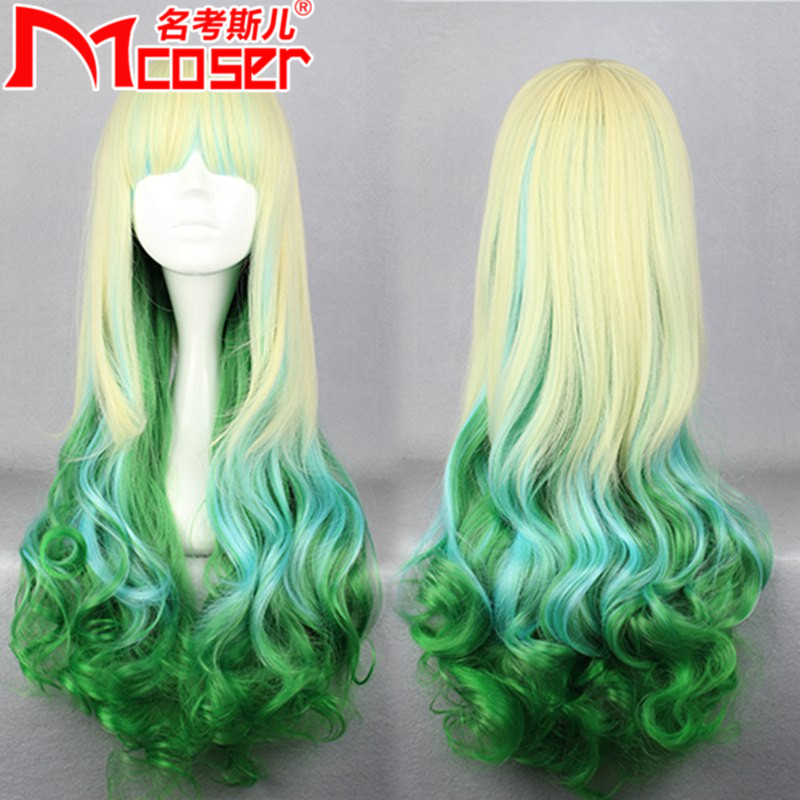 Mcoser anime wig japanese harajuku style super meng lolita wig/wig everyday cos