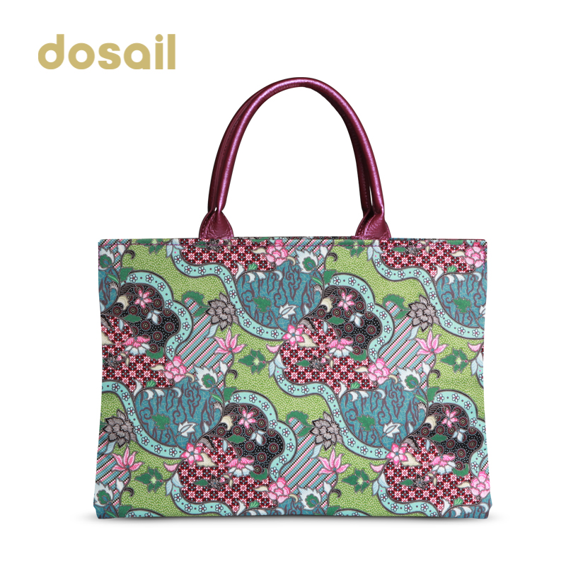Meeting colorful brocade summer color in autumn and winter big bag bags canvas tote bag casual personality printing in europe and america ds7002