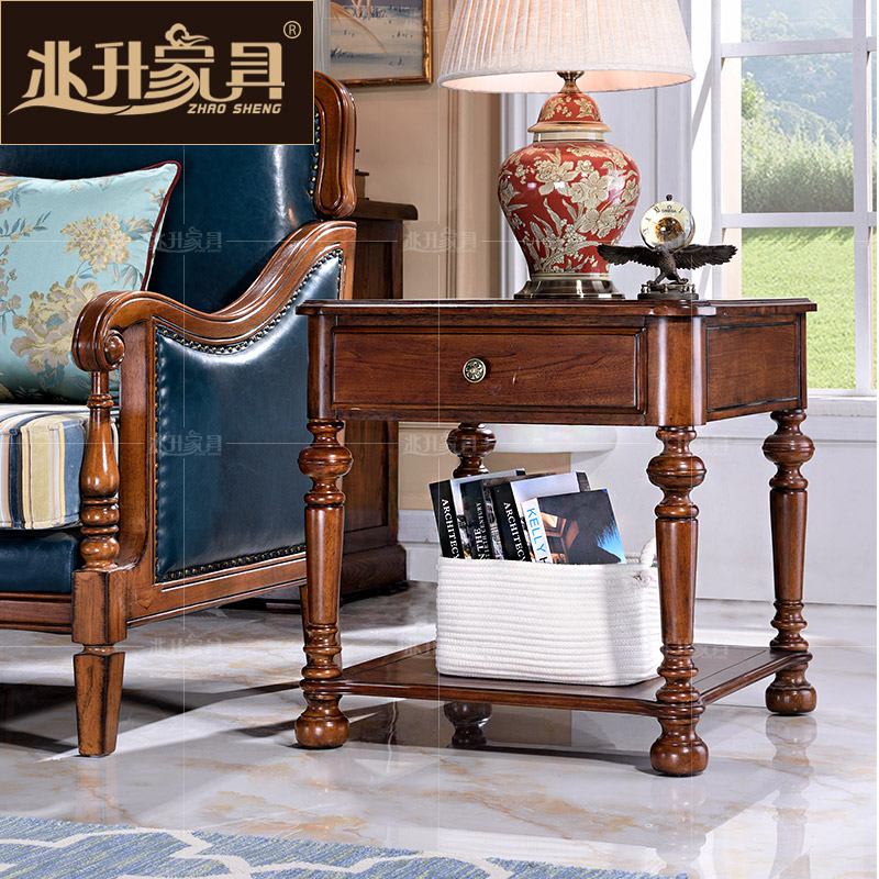 Megalitres jianmei wood drawer furniture corner a few coffee a few tea american living room side table a few phone side of theb3