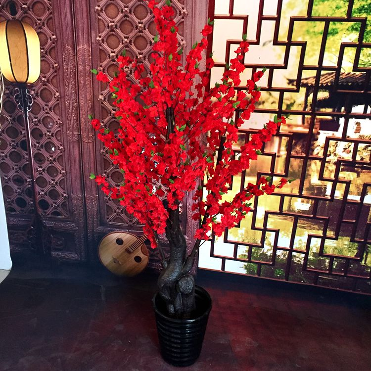 Mei da simulation large artificial flowers artificial flowers decorate the living room simulation wishing tree peach tree cherry trees bloom spring plant