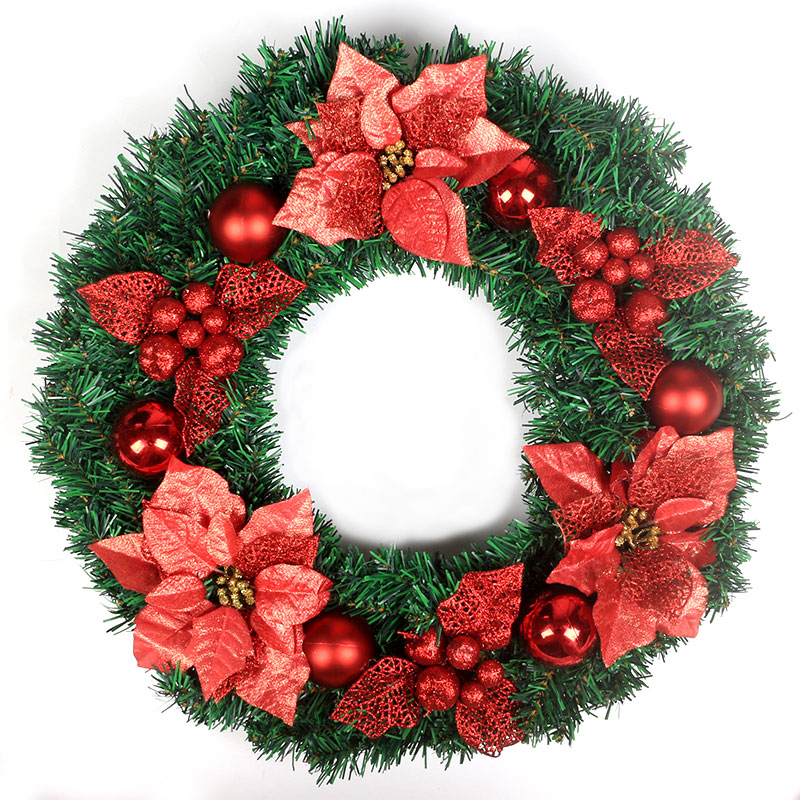 Mei xuan 40cm christmas wreath christmas wreath ornaments 50CM cm christmas wreath hanging ornaments