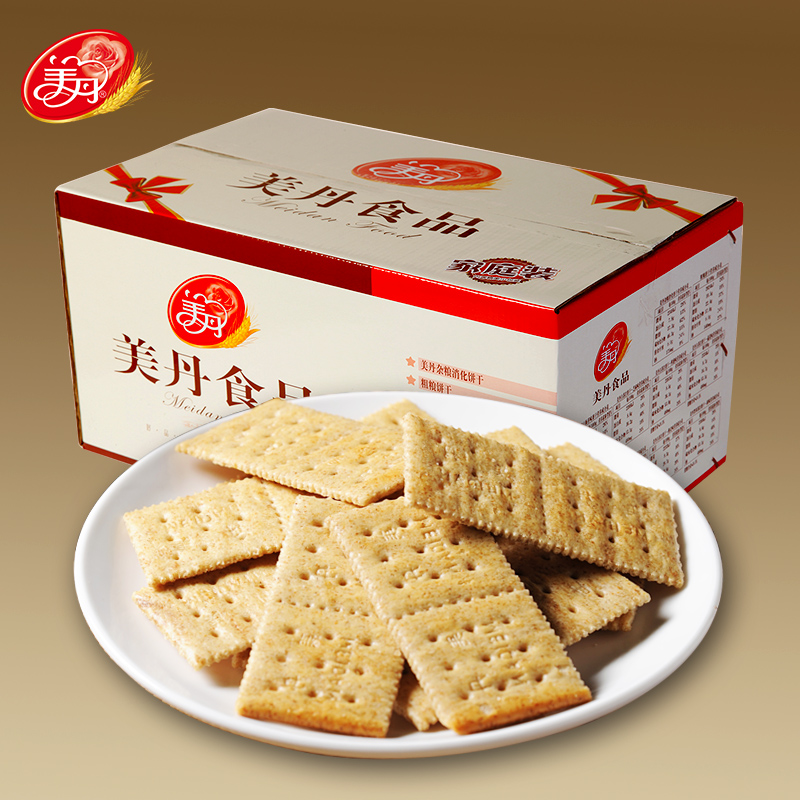 Meidan moreroughage barmy moreroughage bread whole wheat crackers savory biscuits snack 2.2 kg high fiber diet