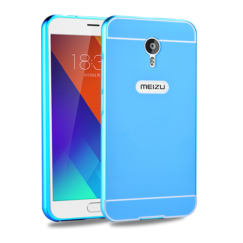 Meizu charm blue charm blue metal phone shell metal protective sleeve M57A metal frame with back cover popular brands