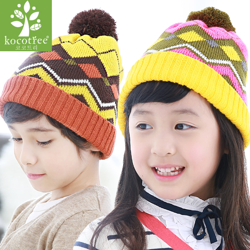 Men and women fall and winter baby hat children winter hat baby hat sets of headgear 2-4-8 years old thick wool cap Influx of men