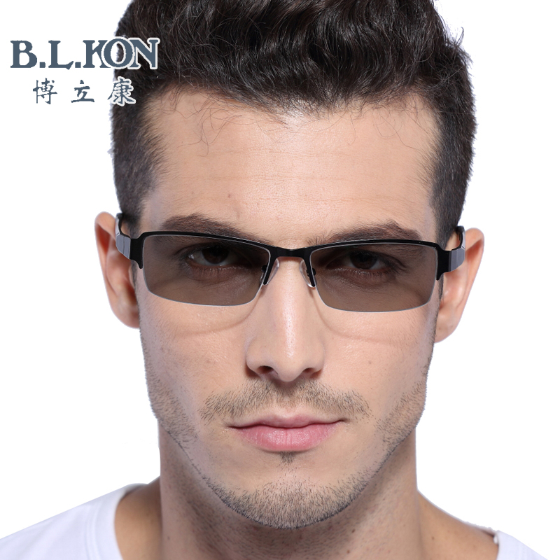 Men with disabilities and a half box myopia paragraph chromotropic outdoor uv radiation computer goggles plain glasses frames 2364