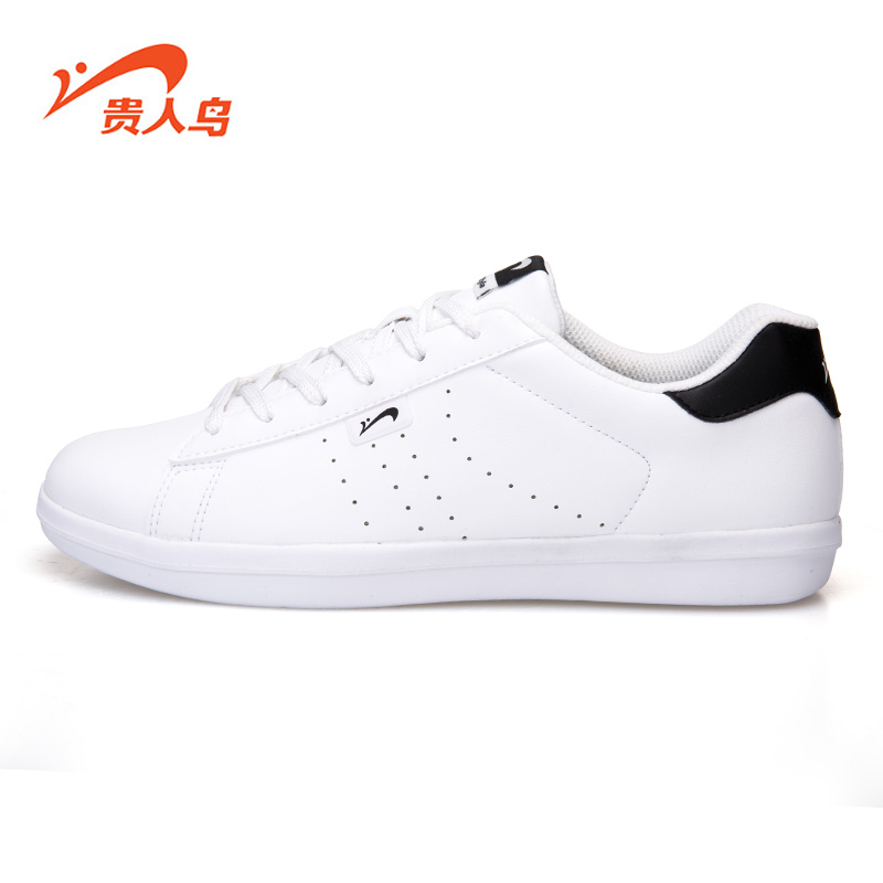 Men's elegant birds casual shoes 2016 autumn korean tidal shoes sports shoes lovers of classic black and white men shoes white