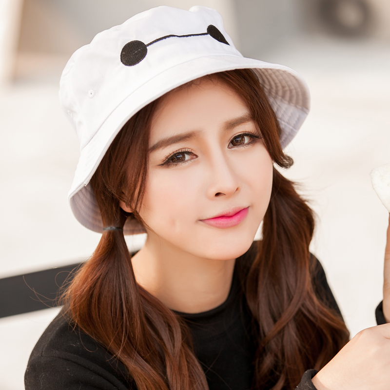 19c4eb80cd389 Get Quotations · Men s hats hat female influx of fall and winter korean  version of the big white hat