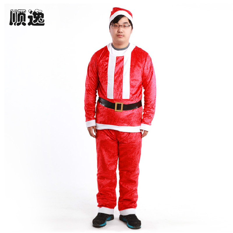 get quotations mens new christmas dress christmas santa claus costume christmas decorations christmas hats performances including belt kit - Christmas Suits For Mens