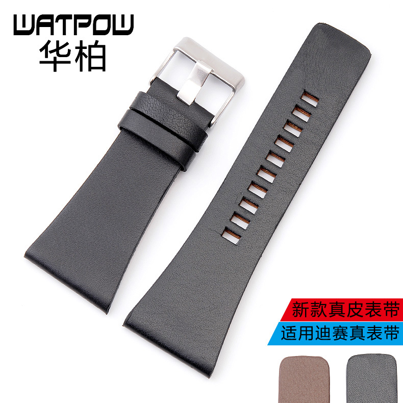 Men's small leather watchband applicable diesel disynthesis paragraph pin buckle belt accessories watch chain 30/32/34