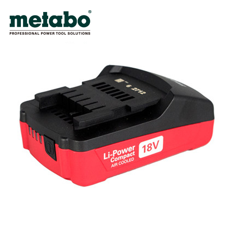 Metabo metabo 18 v lithium battery, 2.0ah rechargeable drill/impact driver