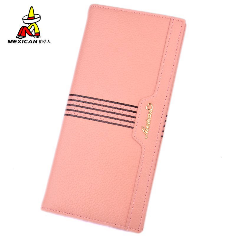Mexican/scarecrow female leather wallet ladies leather wallet purse female long section of soft leather fashion female models